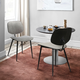 Lizzy  Gray Velvet Modern Dining Accent Chairs - Set of 2