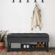 Cosmopolitan Black Faux Leather Storage Ottoman Bench
