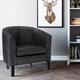 Austin Black Faux Air Leather Tub Chair