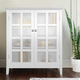 Acadian Rustic White Storage Cabinet