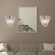 A Touch of Design 2-Light Draped Chain Wall Sconce, Silver