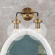A Touch of Design 2-Light Glass Globe Dimmable Vanity Light, Black and Gold