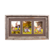 Abstract Opening Picture Frame - 100% Up-Cycled Reclaimed Wood Frame (Three 5 x 7