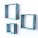 Wood Floating Shelves, Robins Egg Blue (Set of 3)