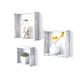 Wood Floating Shelves, White Wash (Set of 3)