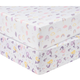 Sammy and Lou Rainbow Mermaid 2 Pack Microfiber Fitted Crib Sheets