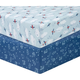 Sammy and Lou Airplanes 2 Pack Microfiber Fitted Crib Sheets