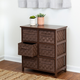 Honey-Can-Do 6 Drawer Woven Strap Chest