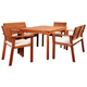 Nelson 5-Piece Eucalyptus Rectangular Dining Set