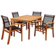 Clemente 5-Piece Teak Rectangular Dining Set