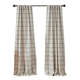 Elrene Home Fashions Brighton Windowpane Plaid Blackout Window Curtain Panel, 52
