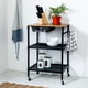 Medford 36-Inch Kitchen Cart With Wheels, Storage Drawer and Handle, Black