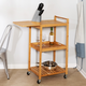 Lia 38-Inch Bamboo Kitchen Cart With Wheels