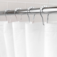 Kenney Medium Weight PEVA Shower Curtain Liner and Beaded Roller Ring Set, 70