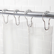Kenney Medium Weight PEVA Shower Curtain Liner and Beaded Roller Ring Set, 70