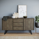 Lowry Solid Acacia Wood and Metal 60 inch WideRectangle Modern Industrial Sideboard Buffet