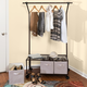 Honey-Can-Do Rolling Garment Rack with Storage Bins