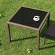 Siesta Outdoor Miami Resin Wickerlook Square Dining Table