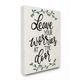 Leave Your Worries at the Door Quote 24x30 Canvas Wall Art