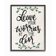Leave Your Worries at the Door Quote 24x30 Black Frame Wall Art