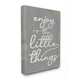 Enjoy The Little Things Phrase 36x48 Canvas Wall Art