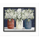 Americana Floral Bouquets Rustic Flowers 16x20 Black Frame Wall Art