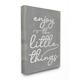 Enjoy The Little Things Phrase 16x20 Canvas Wall Art