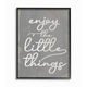 Enjoy The Little Things Phrase 16x20 Black Frame Wall Art