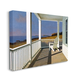 Cottage Porch Scene at Sunset 30x40 Canvas Wall Art