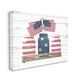 Rustic Patriotic Jars American Pride Flag 36x48 Canvas Wall Art