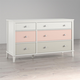 Little Seeds Monarch Hill Poppy 6 Drawer Peach and Taupe Dresser