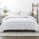 Home Collection Premium Ultra Soft Geo Threads Pattern 2-Piece Twin Duvet Cover Set