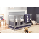 Carter's by Davinci Dakota 4-in-1 Convertible Crib in Gray