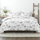 Home Collection Premium Down Alternative Magnolia Grey Patterned Twin Comforter Set