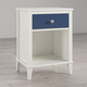Little Seeds Monarch Hill Poppy Blue and White Nightstand
