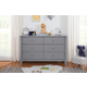 Carter's by Davinci Morgan 6-Drawer Double Dresser in Gray
