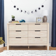 Carter's by Davinci Colby 6-Drawer Double Dresser in Washed Natural