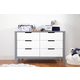 Carter's by Davinci Colby 6-Drawer Double Dresser in Gray and White