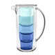 Tarhong 91 oz. Simple Stacked Nested Pitcher Set, 4 Assorted Color Glasses and Pitcher