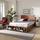 Baxton Studio Alba Transitional Ash Walnut Wood Full Size 4-Drawer Platform Storage Bed with Built-In Shelves