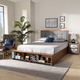 Baxton Studio Cosma Transitional Ash Walnut Finished Wood 4-Drawer Full Size Platform Storage Bed