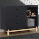 Delta Children Poppy 3 Drawer Dresser with Cubbies