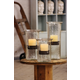 Original Glass Candle Cylinder W Rustic Insert - Small