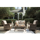 Clear Ridge Outdoor Loveseat and 2 Chairs with Coffee Table