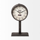 Black Round Face Table Clock
