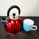 Mr. Coffee Twining 2.1 Quart Pumpkin Tea Kettle in Red