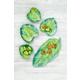 TarHong Palermo Tropical Leaf Appetizer Plate (Set of 6)