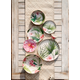 TarHong Palermo Tropical Bamboo Figural Salad Plate (Set of 6)