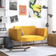 Atwater Living Atwater Living Ocie Yellow Linen Futon with Magazine Storage Mustard