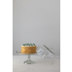 Creative Co-Op Round Glass Cake Stand with Hobnail Edge and Cloche